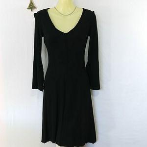 Diane Von Furstenberg Dress Black Cocktail 4 EUC